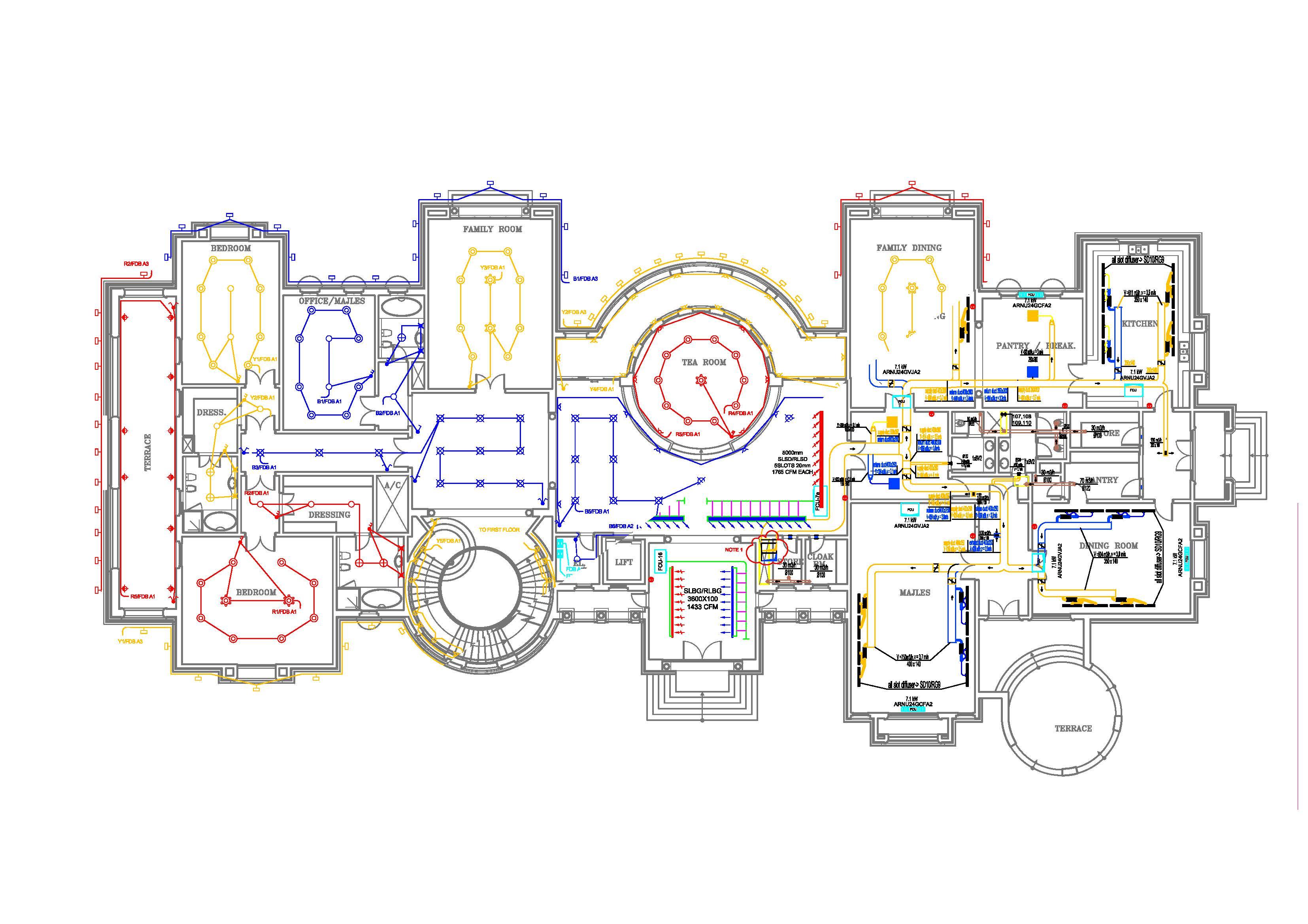 House Electrical Plans Dwg - Escortsea